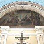 Lunetta di S.Antonio, rapito in estasi, che contempla Gesù bambino