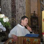 Il Parroco Don Luigi durante l'omelia