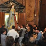 Reposzione statua Vergine (9)