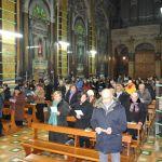 I fedeli riuniti nel Santuario