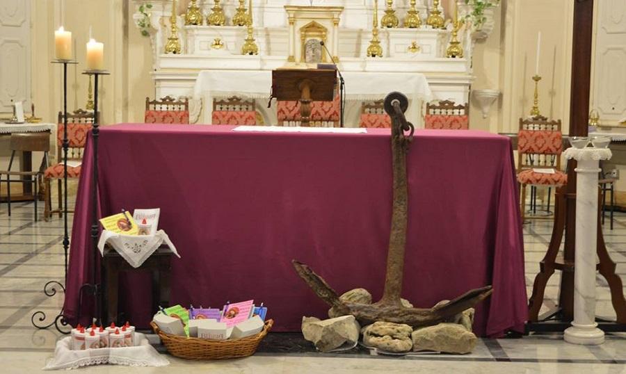 Composizione altare Messa delle Ceneri 2018