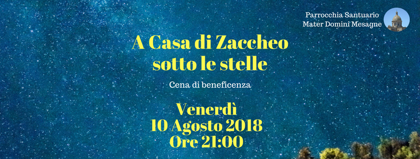 Cena di beneficenza header
