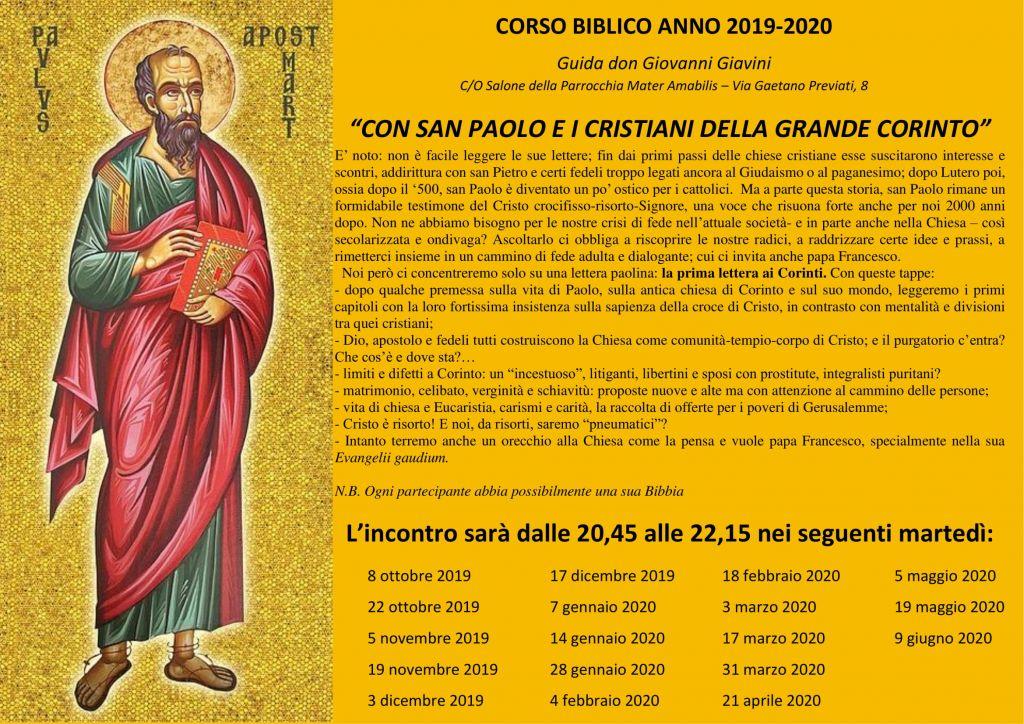 corso biblico 2019-2020-1