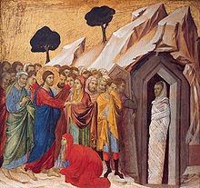 220px-'The_Raising_of_Lazarus',_tempera_and_gold_on_panel_by_Duccio_di_Buoninsegna,_1310–11,_Kimbell_Art_Museum