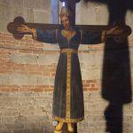 Dipinto su tavola di Gesù  Cristo Re Volto Santo.
