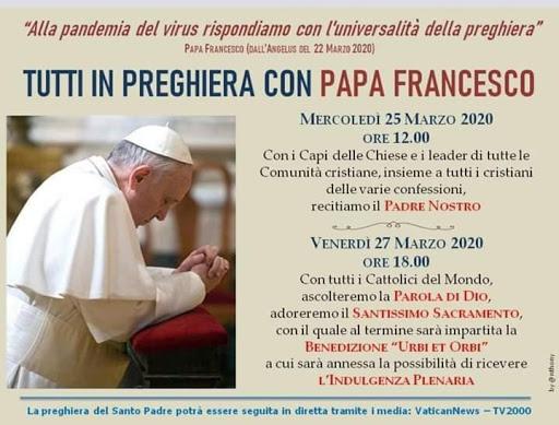 Preghiera con Papa Francesco