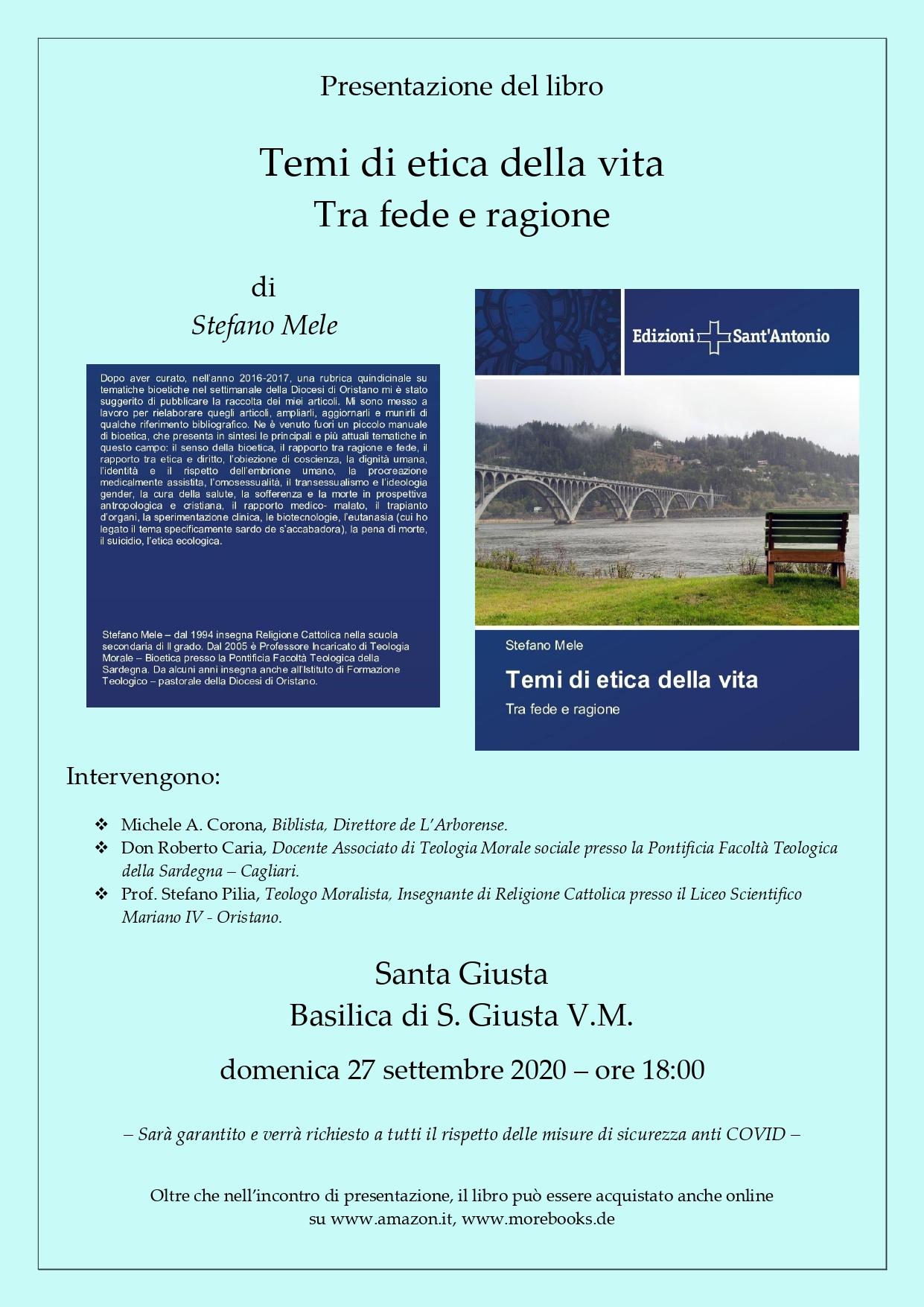 Presentazione del libro - S. Giusta (27-9-2020)