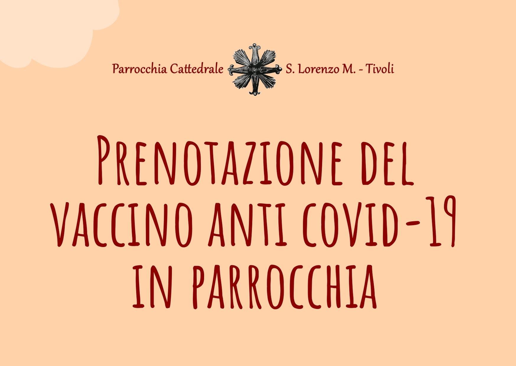 Prenotazione del vaccino anti covid-19