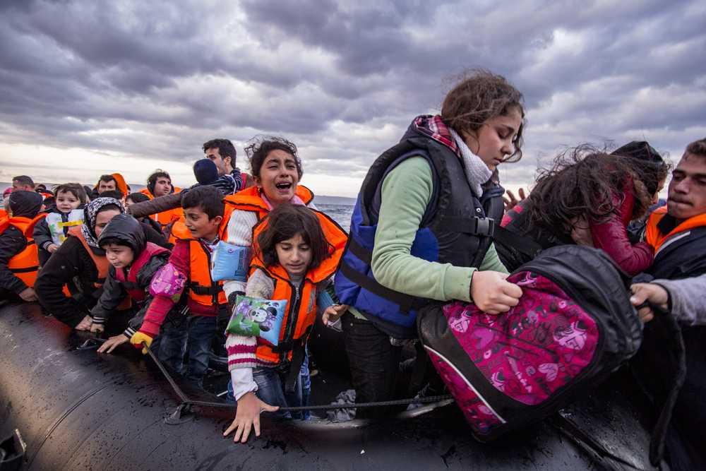 Lesvos,Island,,Greece,-,29,October,2015.,Syrian,Migrants,/