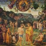 Perugino il Battesimo nel Giordano