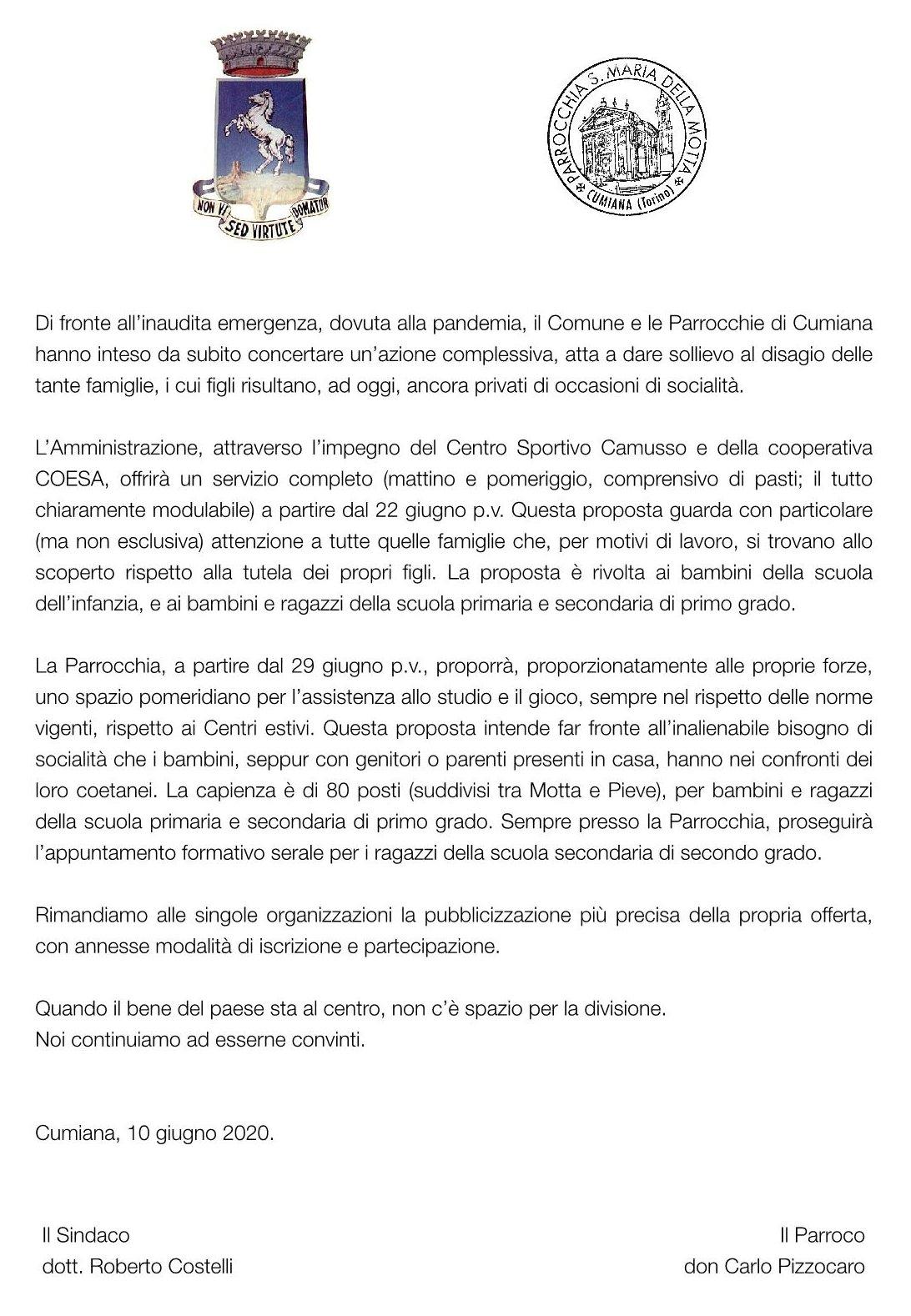 Lettera_congiunta_Centri_estivi
