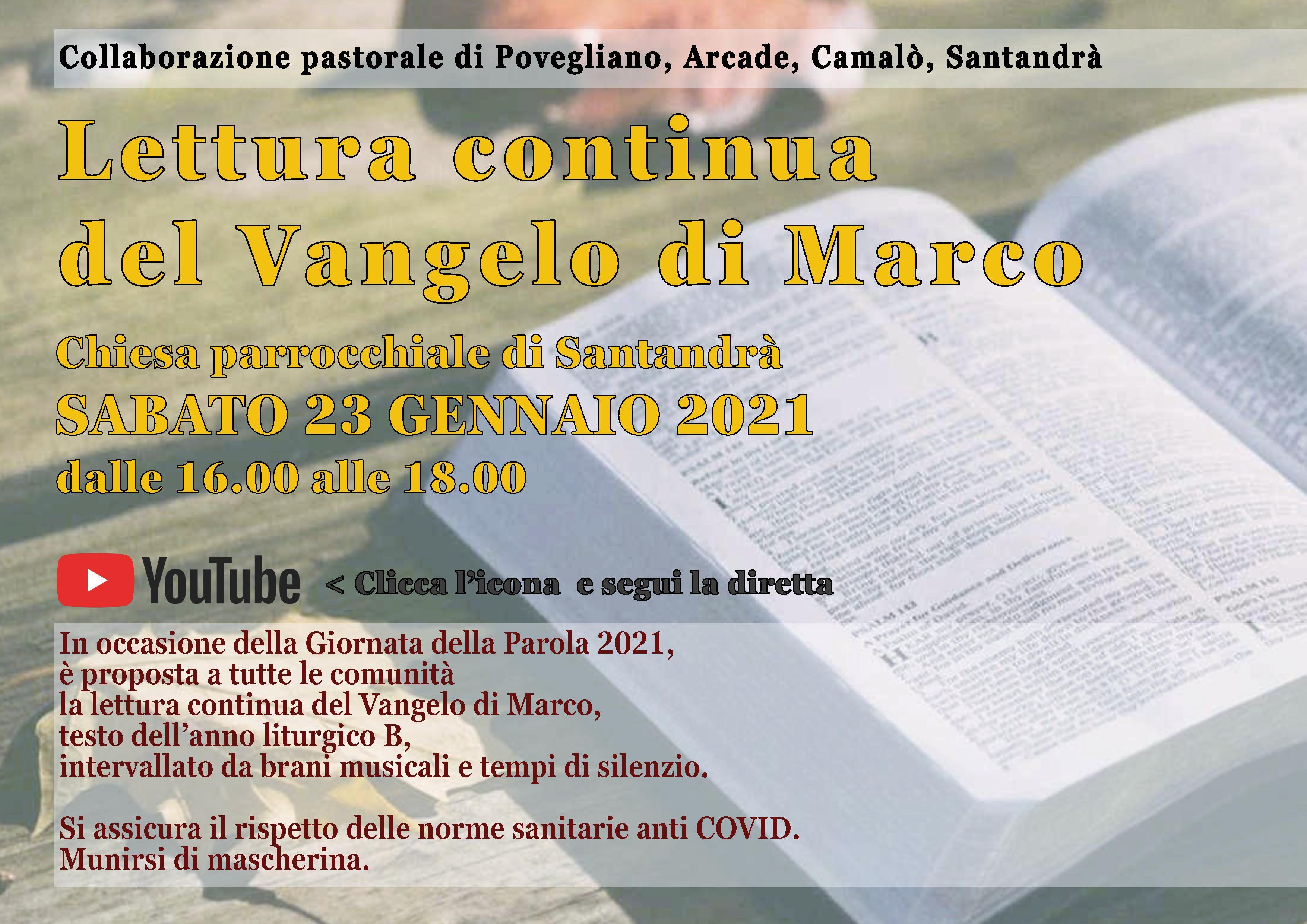 LETTURA CONTINUA VANGELO MARCO_23.01.2021_YT