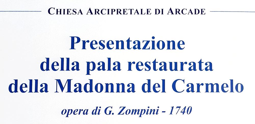 presentazione Pala Madonna del Rosario 25 luglio