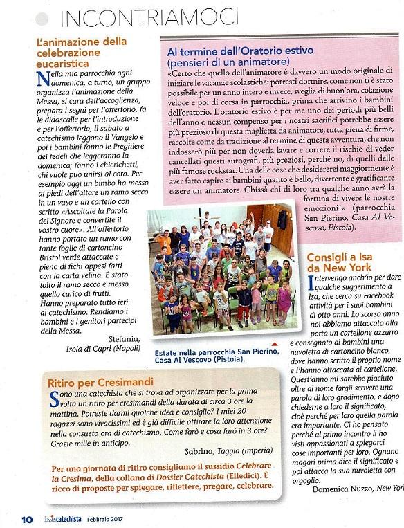 Articolo Dossier Catechista