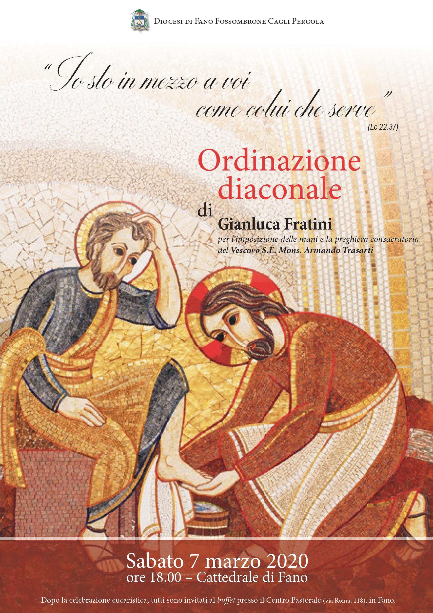 Ordinazione diaconale - Gianluca Fratini LOCANDINA