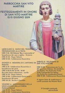Programma Festa di San Vito Martire