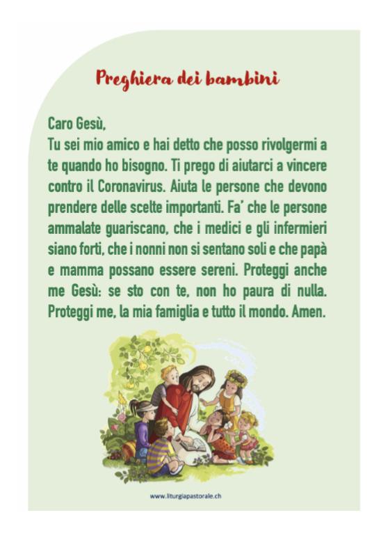 preghiera bambini CV