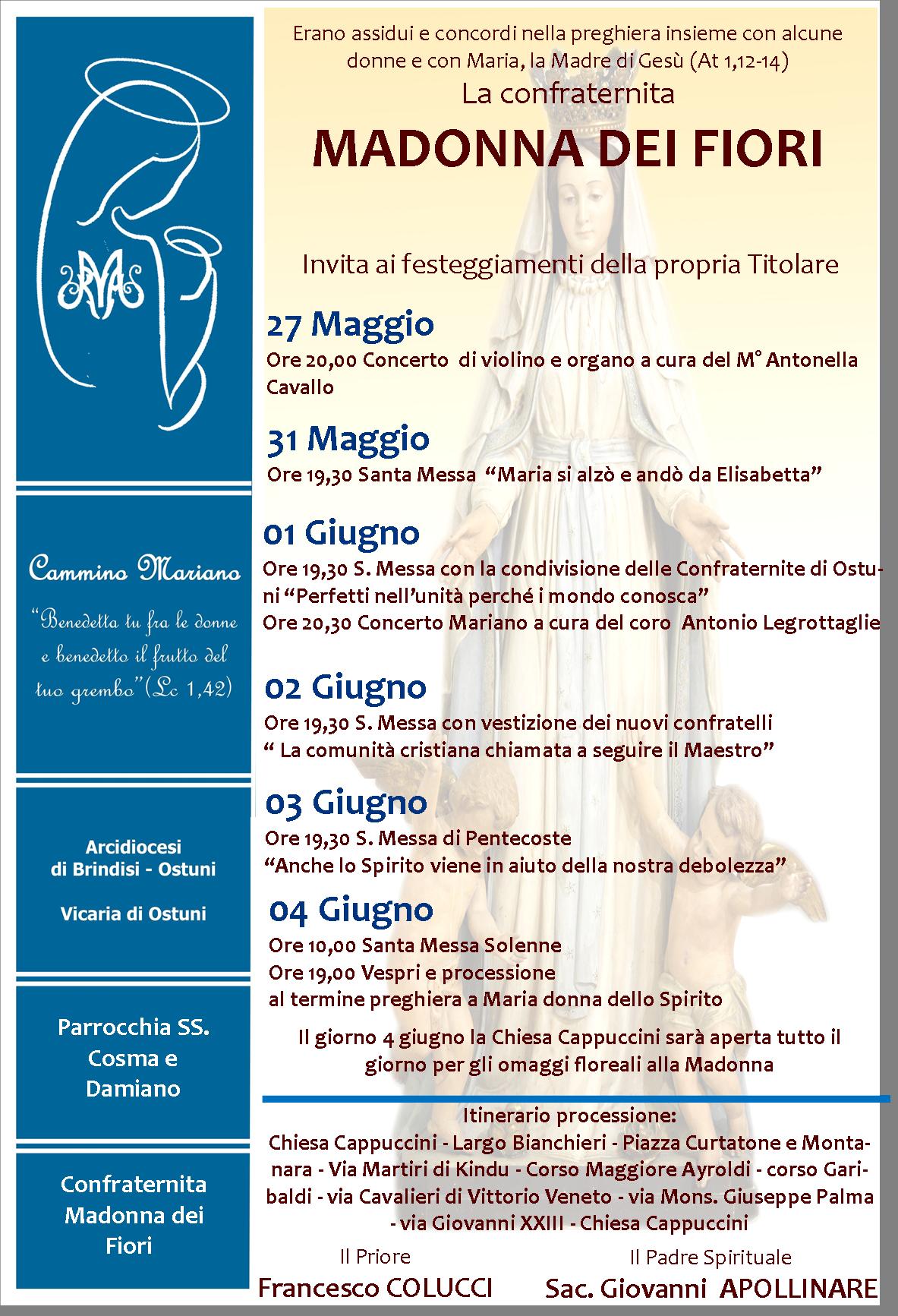 Manifesto Madonna dei Fiori