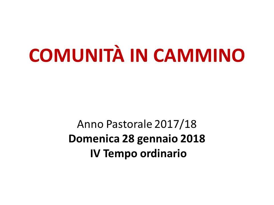 COMUNITÀ IN CAMMINO