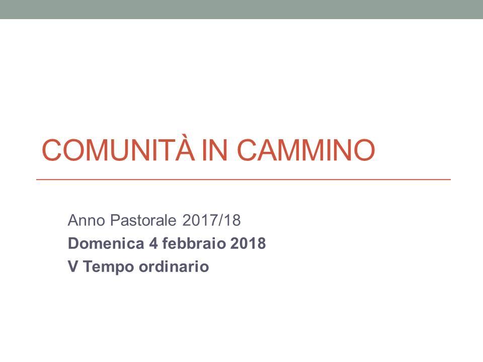 Comunità in CAMMINO 4.2