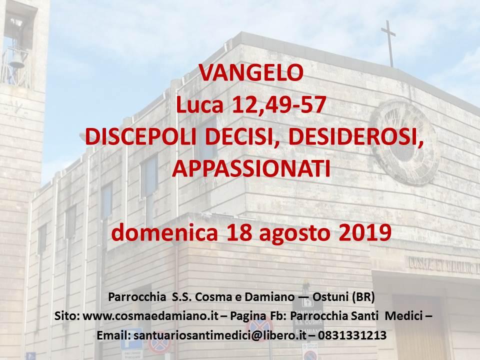 VANGELO 18.08.2019