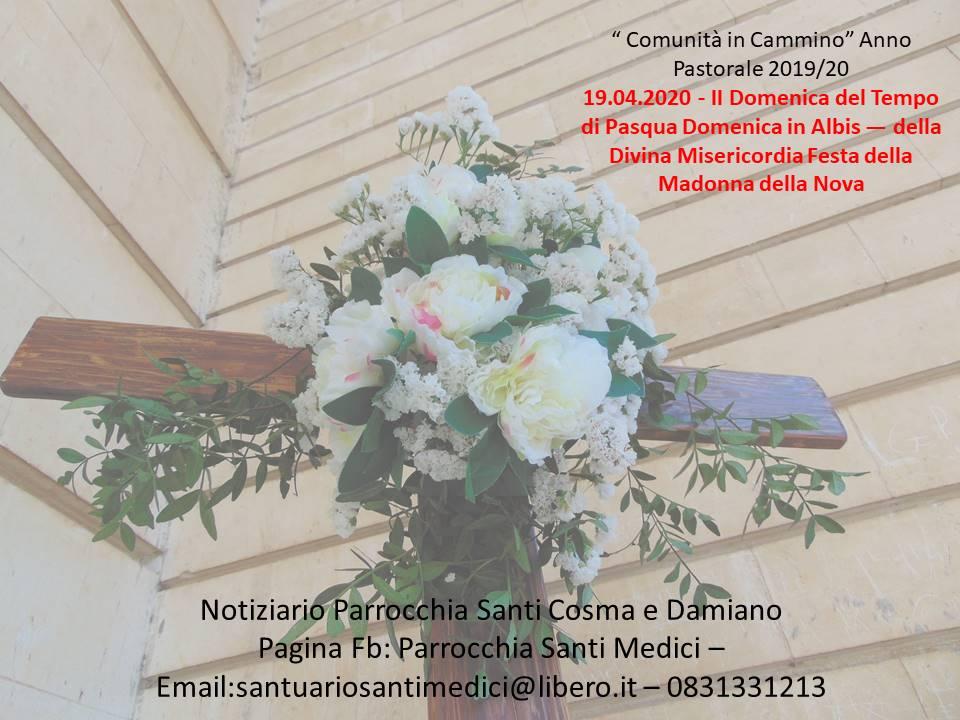 Notiziario Parrocchia Santi Cosma e Damiano 19 aprile