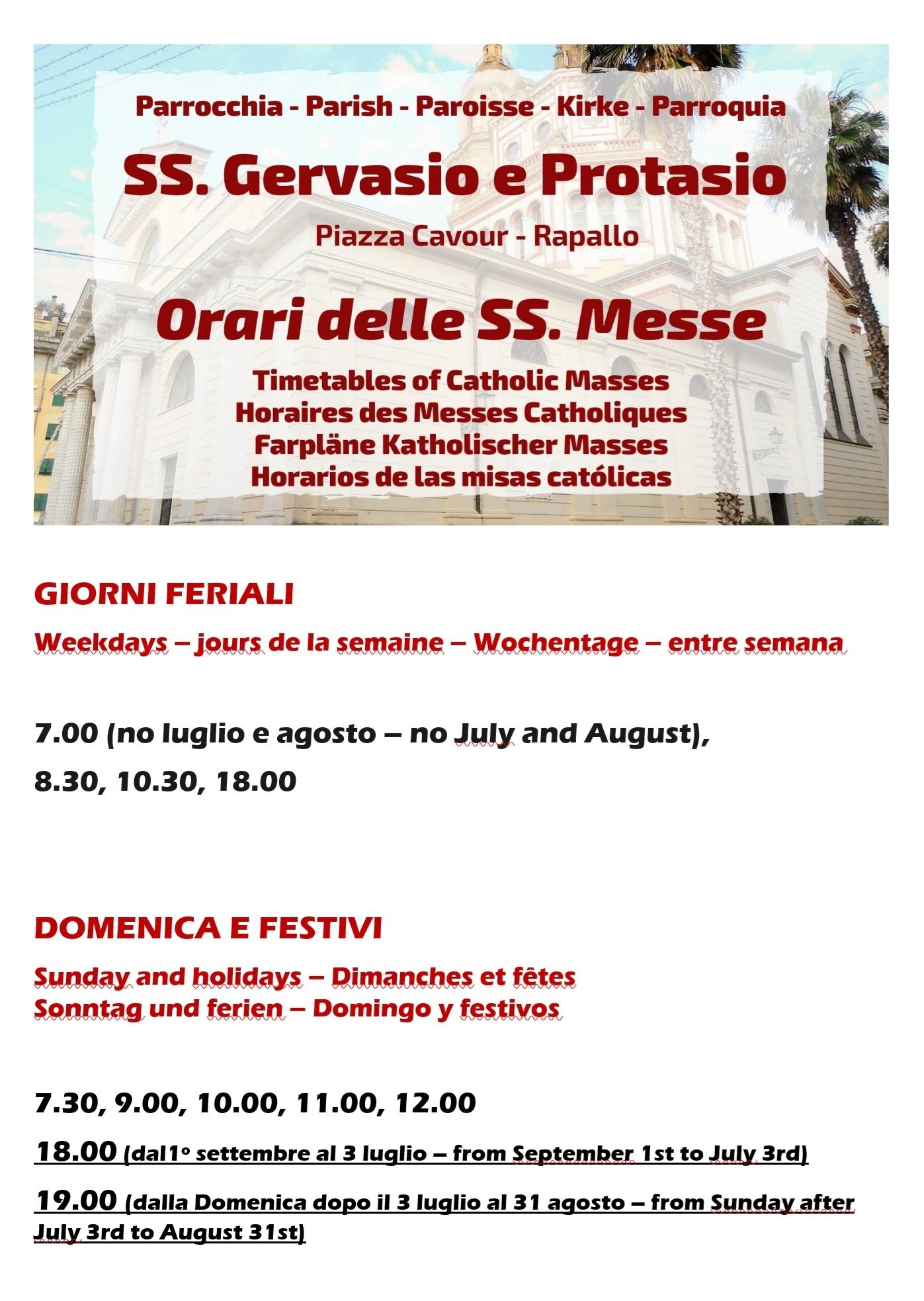 Orario Messe basilica Rapallo